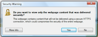 IE Security Warning