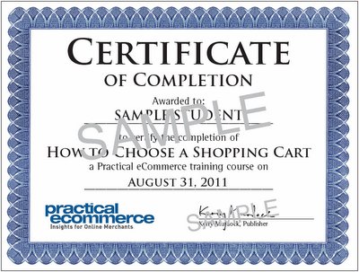 Practical eCommerce Certificate