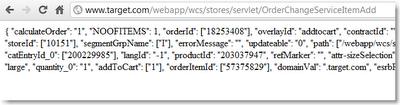 Target Online Store Bug