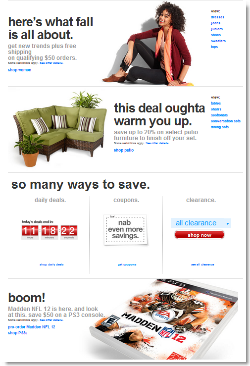 Target Online Store Redesign