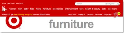 Target Online Store Navigation