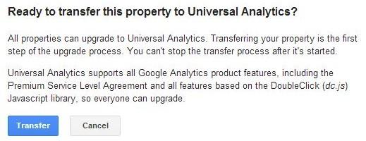 Upgrade to Universal Analytics Transfer - Part 2
